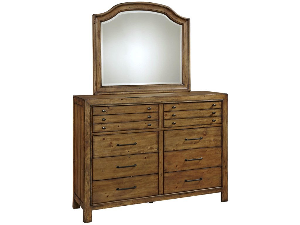 Broyhill Furniture Bethany SquareChesser and Mirror Set