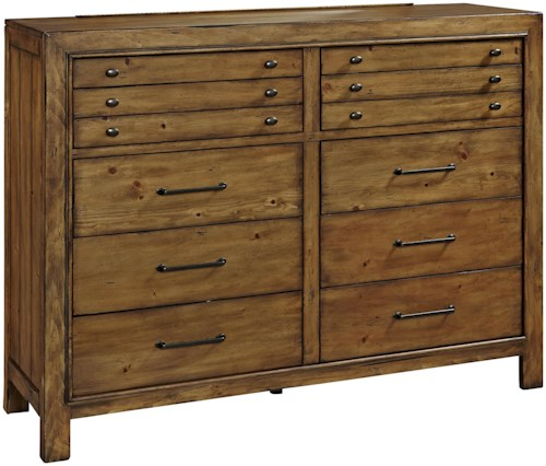 Broyhill Furniture Bethany Square 10 Drawer Chesser with Jewelry Tray