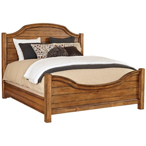 Broyhill Furniture Bethany Square Queen Panel Bed with Arched Headboard