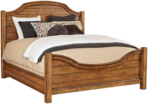 Broyhill Furniture Bethany Square California King Panel Bed with Arched Headboard