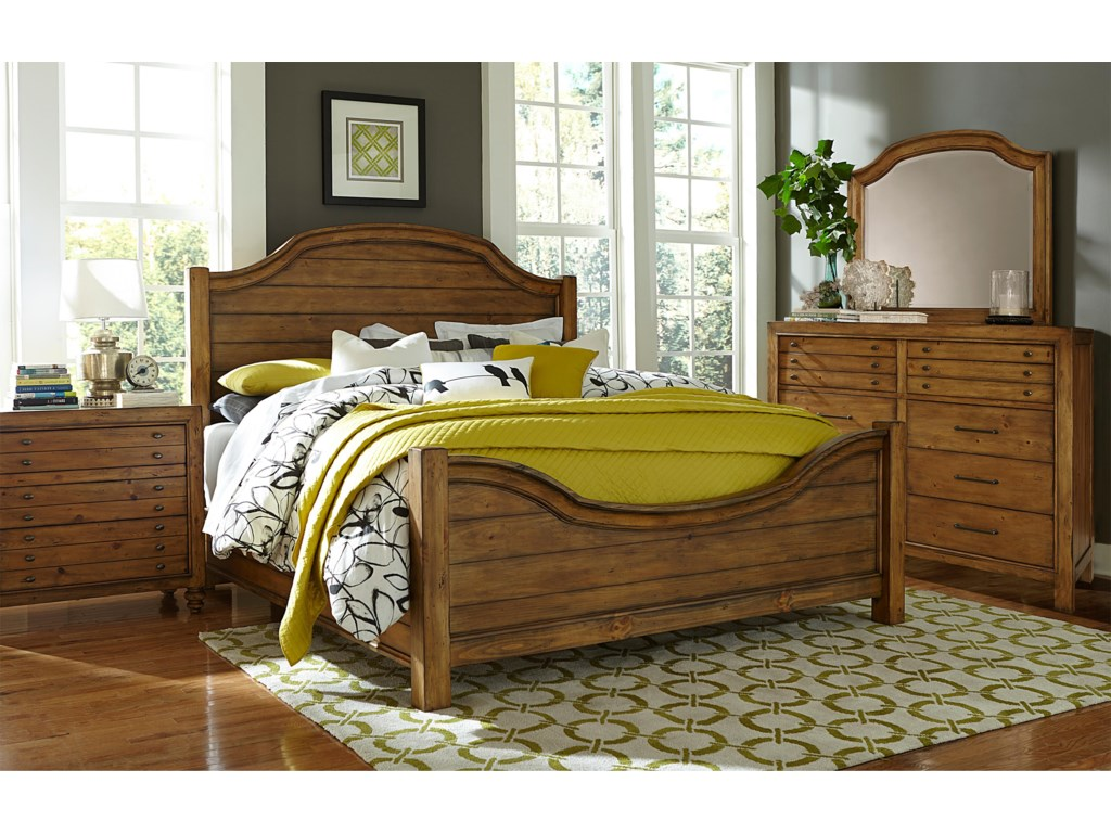 Broyhill Furniture Bethany SquareQueen Panel Bed