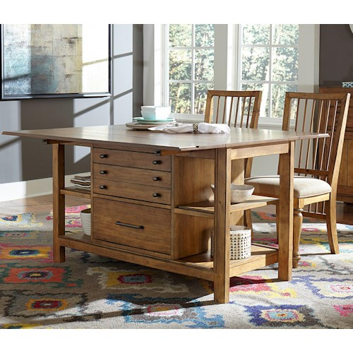 Broyhill Furniture Bethany Square Studio Center and Chair Set