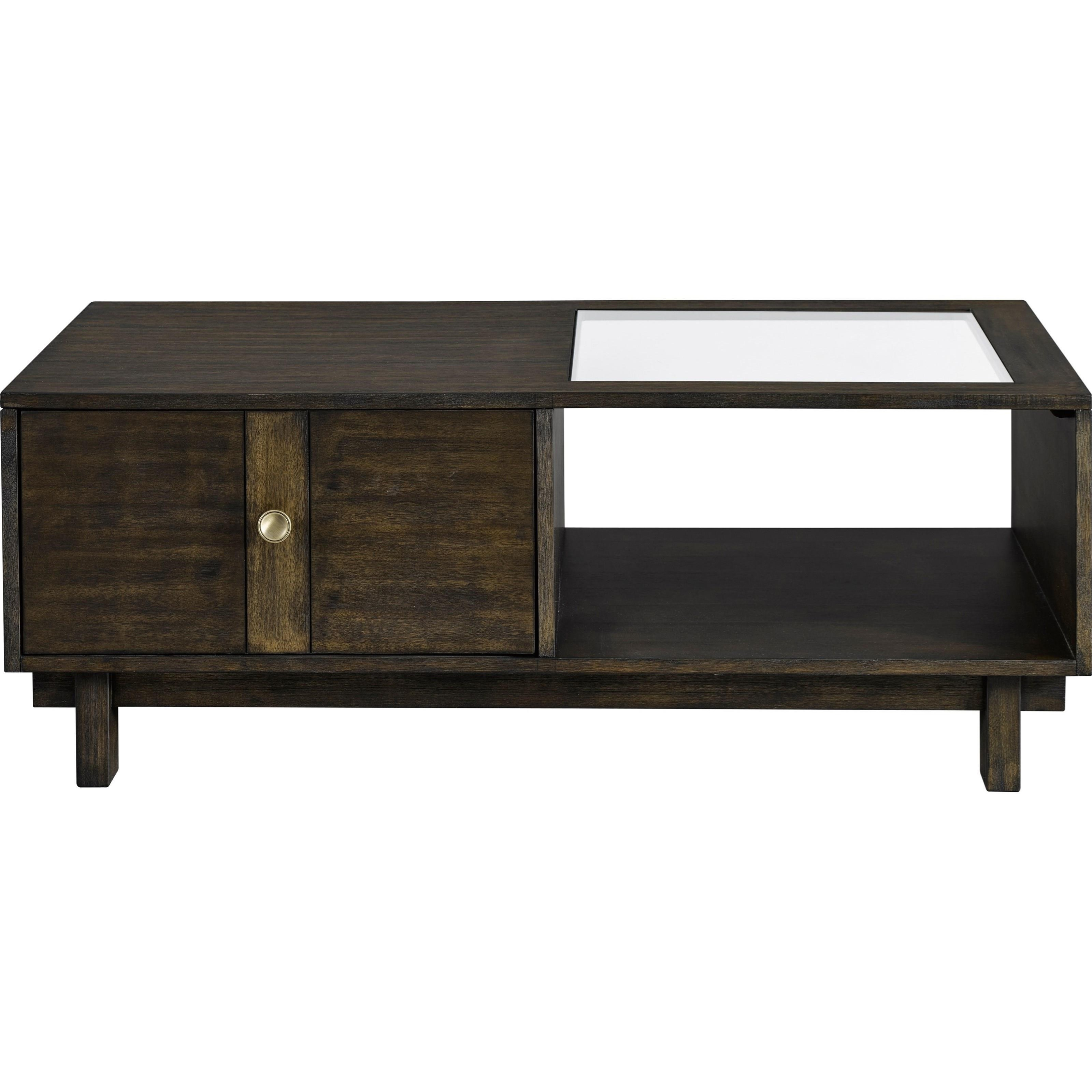 Broyhill Furniture Blythewood Contemporary Cocktail Table With Glass Insert