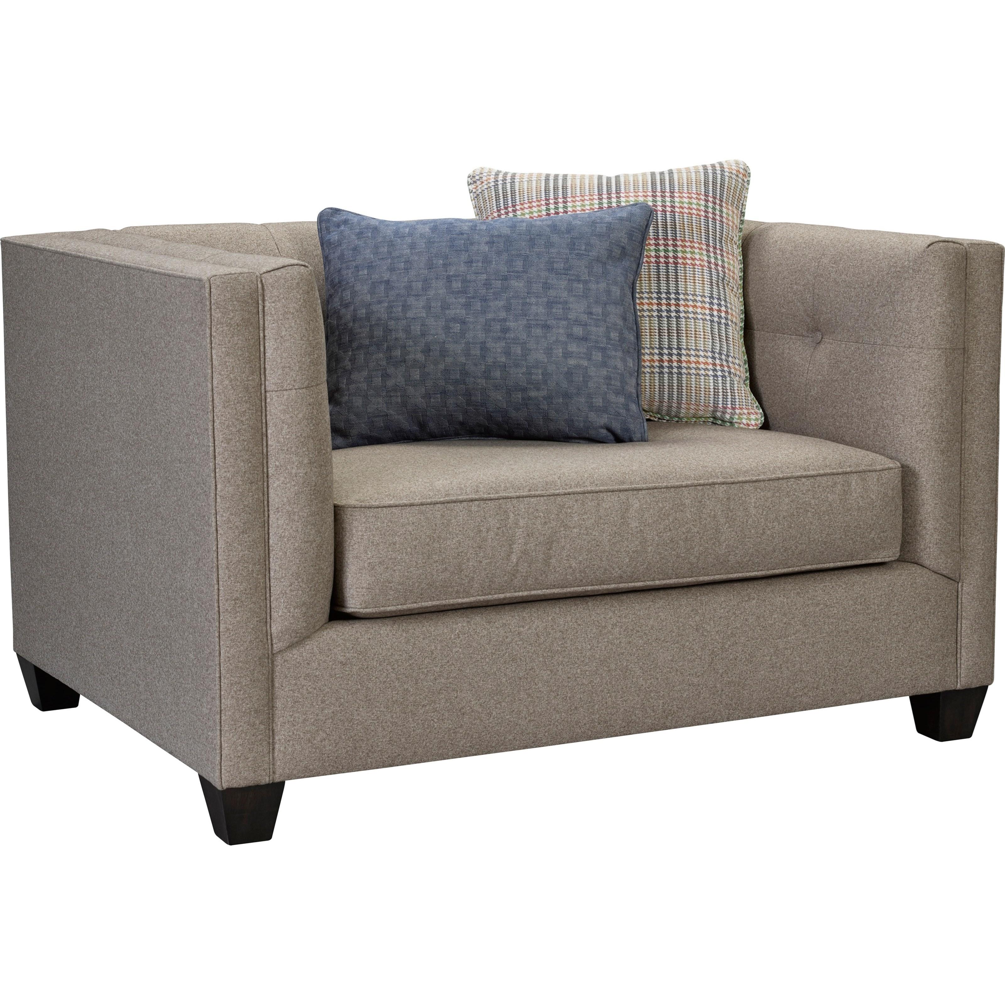 Broyhill Furniture Bryn Chair U0026 1/2 With Sleek Tuxedo Arms