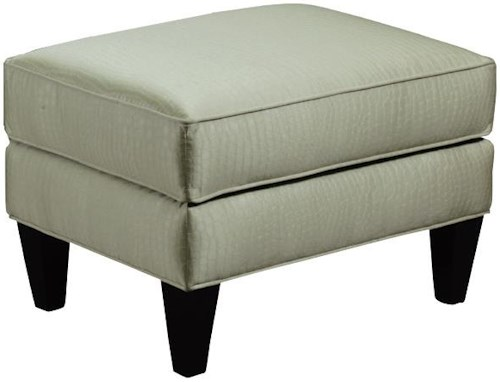 Broyhill Furniture Camdon Transitional Chair Accent Ottoman with Tapered Wood Legs