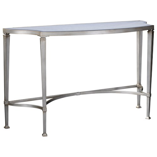 Broyhill Furniture Camille Console Table with Antiqued Mirror Top