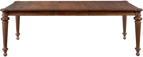 Broyhill Furniture Cascade Rectangle Table with Turned Legs and Shaped Corners