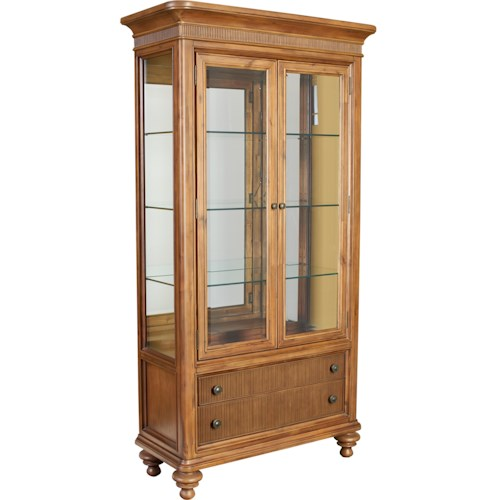 Broyhill Furniture Cascade Curio China with Touch Lighting