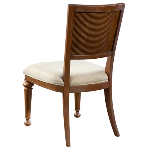 Broyhill Furniture Cascade Upholstered Side Chair with Turned Legs