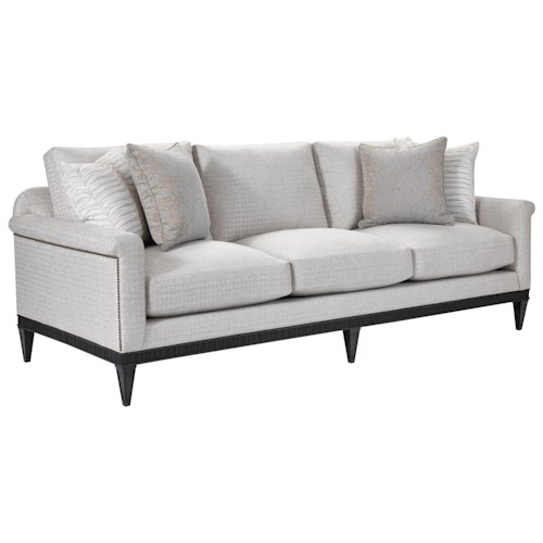 Broyhill Furniture Cashmera Sofa with All Around Wood Base