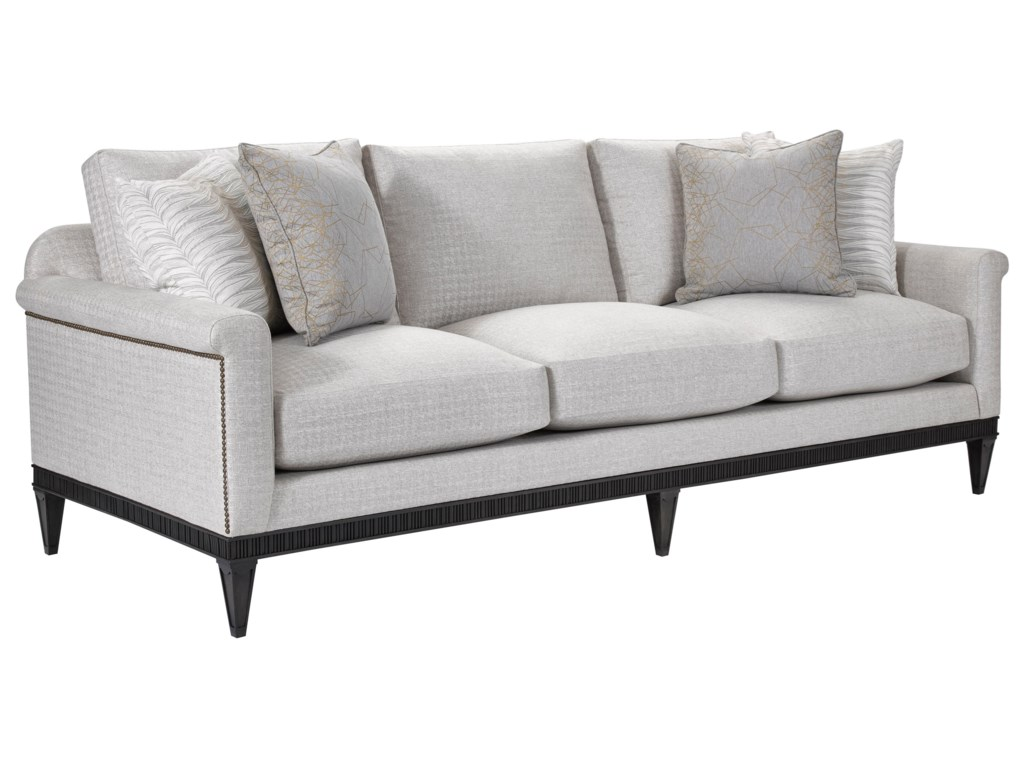 Broyhill Furniture Cashmera 4282-3 Sofa with All Around Wood Base ...