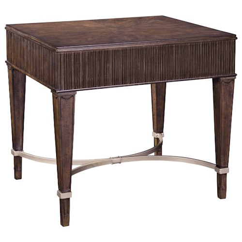 Broyhill Furniture Cashmera End Table with Champagne Stretchers