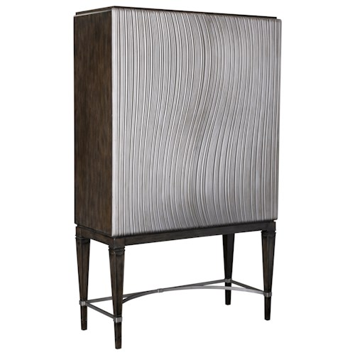Broyhill Furniture Cashmera Armoire with Champagne Finished Doors