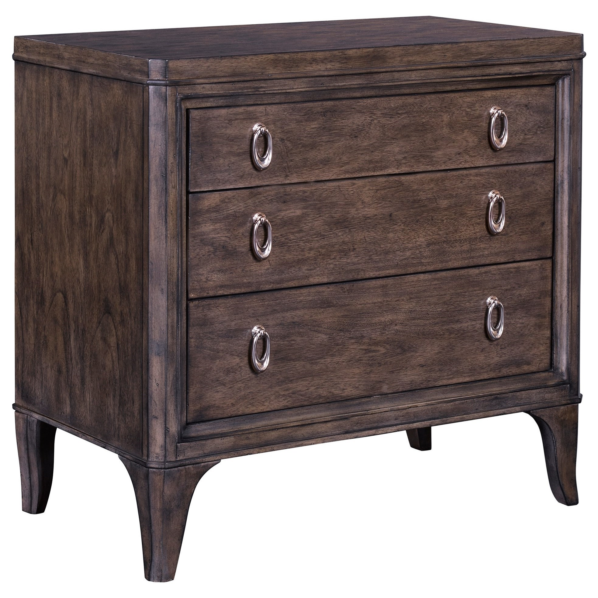 Broyhill Furniture Cashmera 2 Drawer Nightstand With Ring Pull Hardware