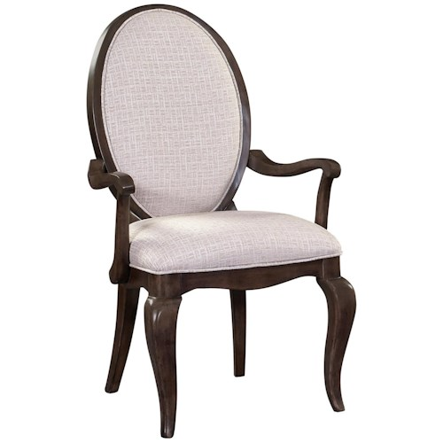 Broyhill Furniture Cashmera Dining Arm Chair with Oval Back