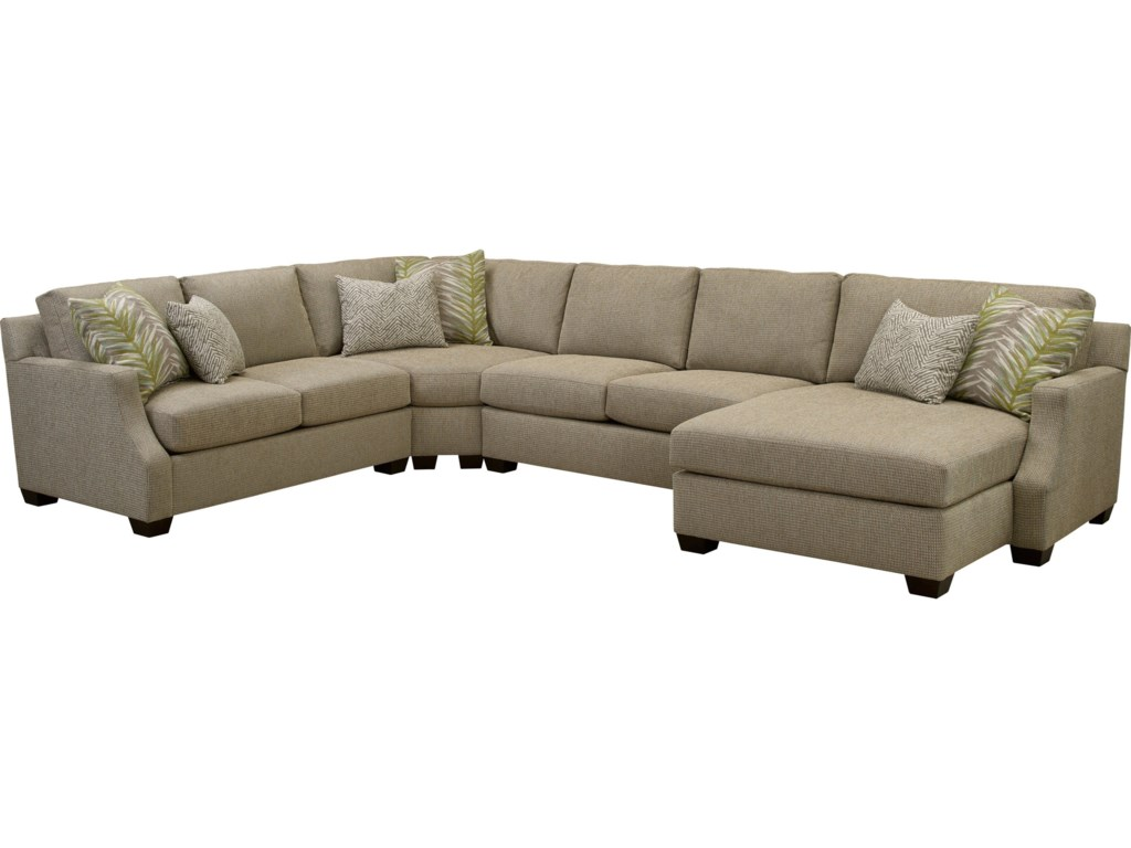 Chambers Large 4 Pc Sectional Sofa With Raf Chaise By Broyhill Furniture