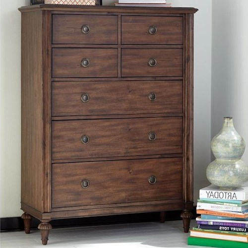 Broyhill Furniture Cranford 7 Drawer Chest with Cedar Lined Drawer