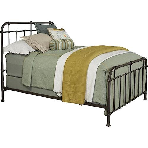 Broyhill Furniture Cranford California King Metal Spindle Bed