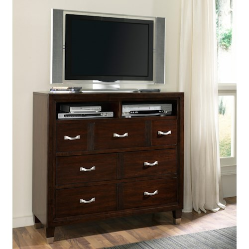 Broyhill Furniture Eastlake 2 Media Chest with 3 Drawers & Divided Opening