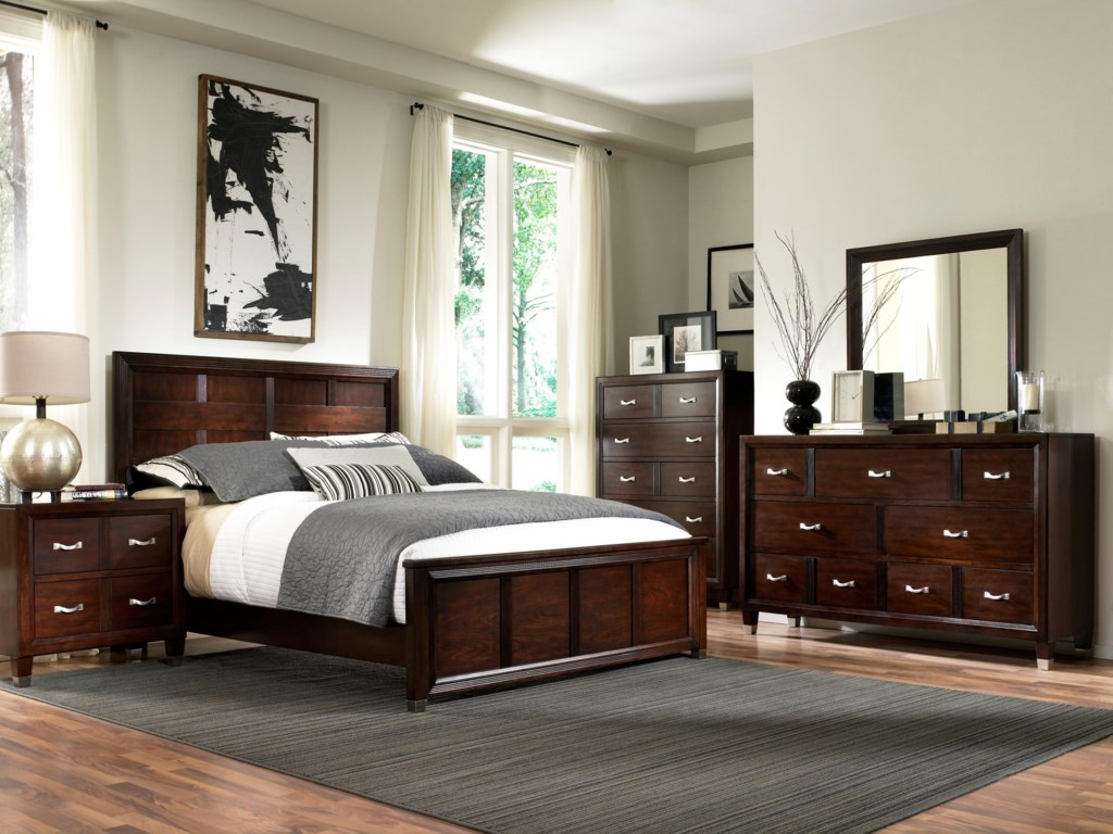 Shown with Mirror, Bed, Chest and Nighstand
