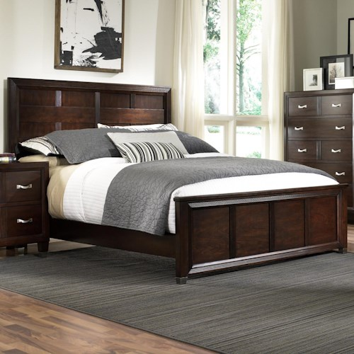 Broyhill Furniture Eastlake 2 Queen Panel Headboard and Low Profile Footboard Bed