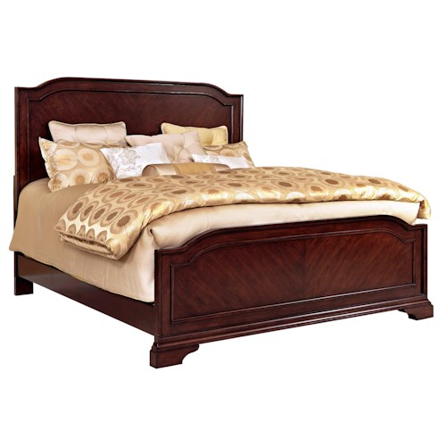 Broyhill Furniture Elaina King Panel Bed with Line Molding