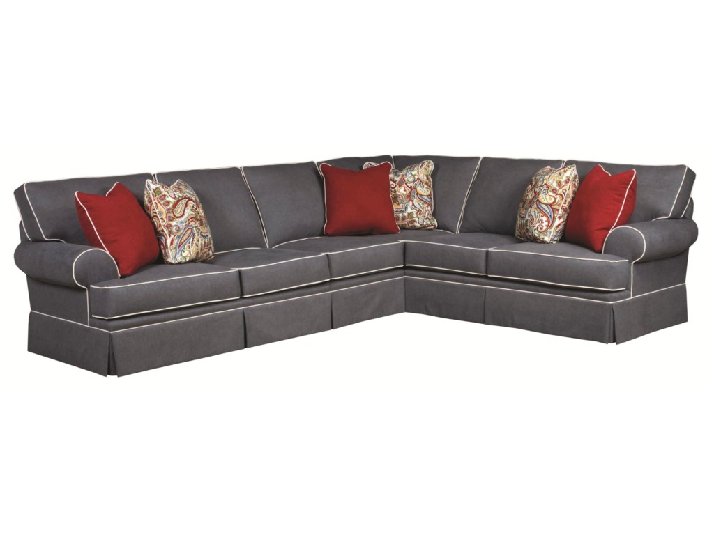 Broyhill Furniture Emilytraditional 3 Piece Sectional Sofa