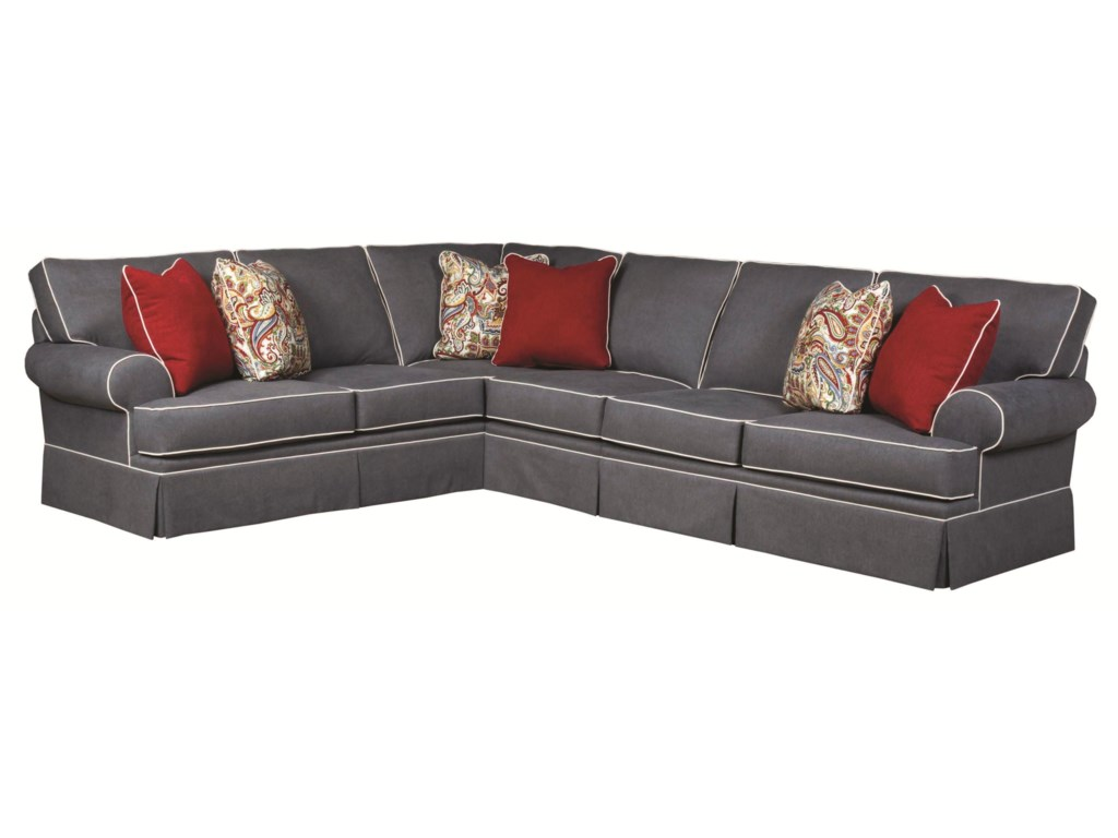 Broyhill Furniture EmilyTransitional 3 Piece Sectional Sofa
