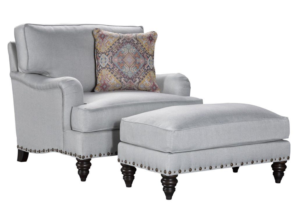 Broyhill Furniture EsterChair and 1/2 and Ottoman