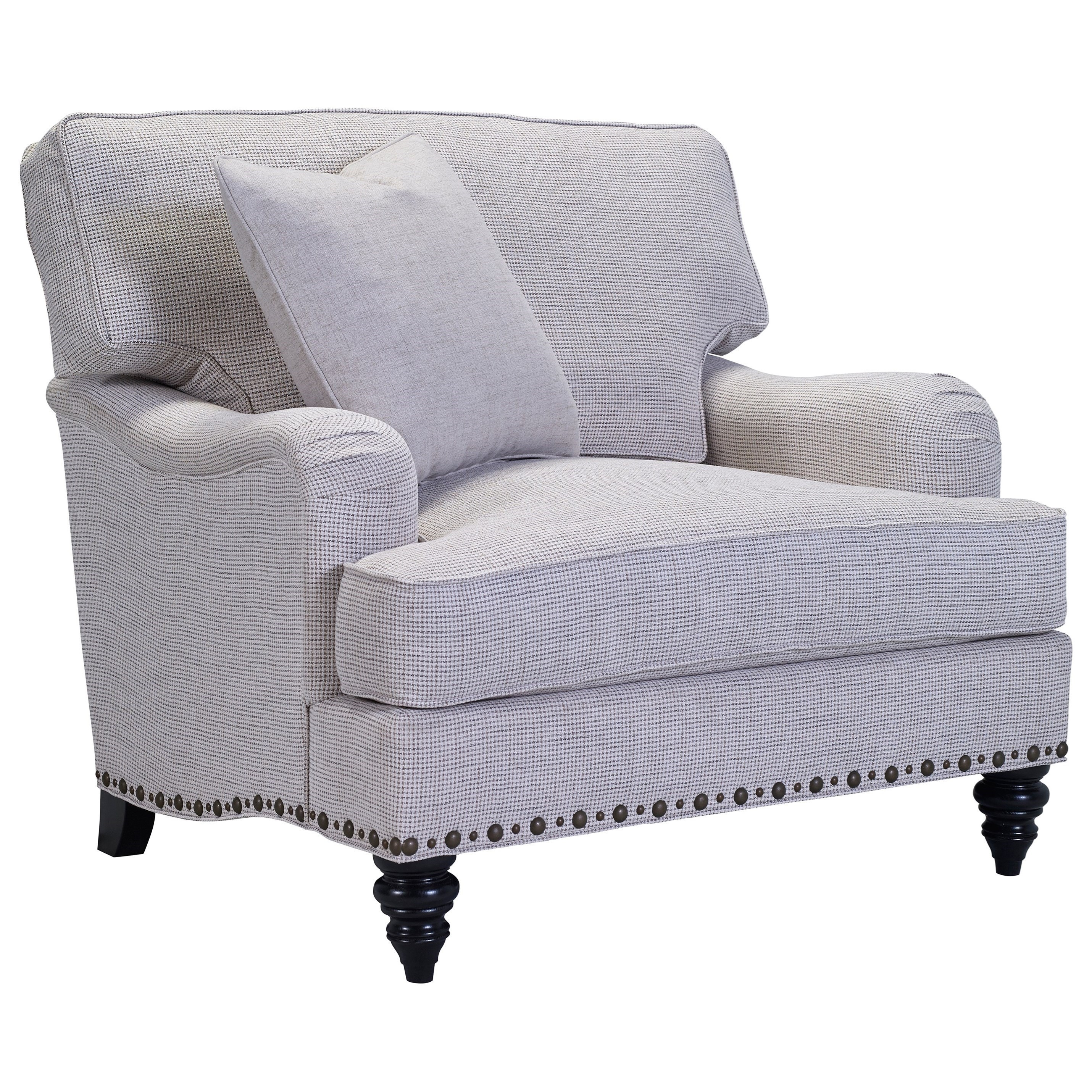 Broyhill Furniture Ester Chair U0026 1/2 With Unique Nailhead Trim   Hudsonu0027s  Furniture   Chair U0026 A Half