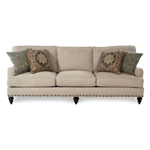 Broyhill Furniture Jarrod Traditional Sofa with Unique Nailhead Trim
