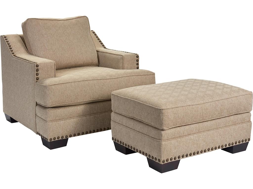 Broyhill Furniture Estes ParkChair and Ottoman Set