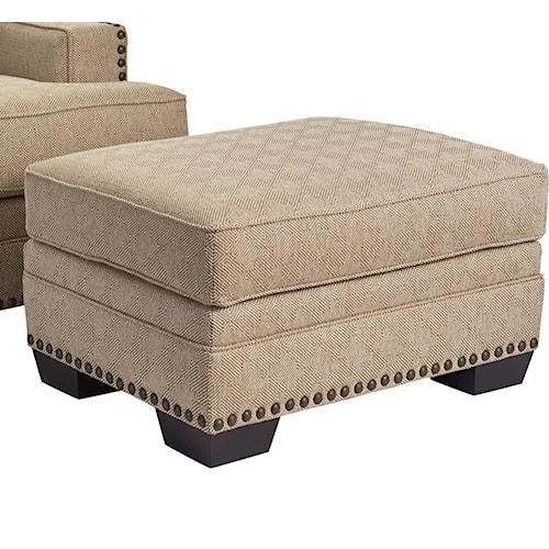 Broyhill Furniture Estes Park Contemporary Chair Ottoman