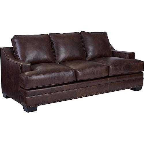 Broyhill Furniture Estes Park Contemporary Sofa with Nailhead Trim