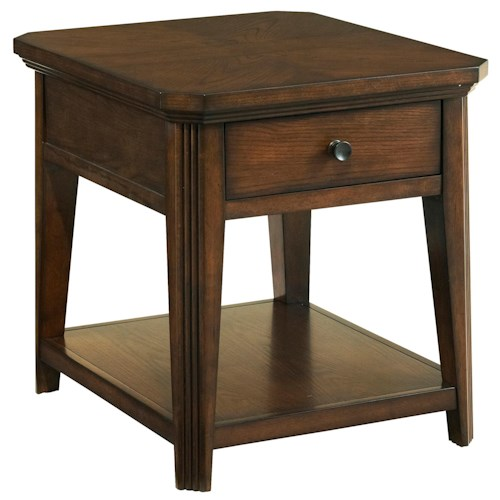 Broyhill Furniture Estes Park Drawer End Table with Shelf