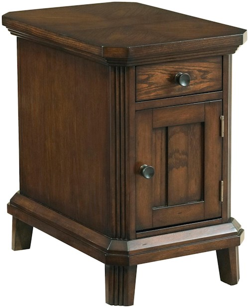 Broyhill Furniture Estes Park Chairside End Table with Door