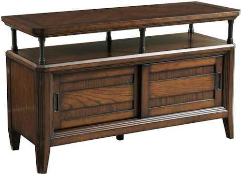 Broyhill Furniture Estes Park Console Table with 2 Sliding Doors