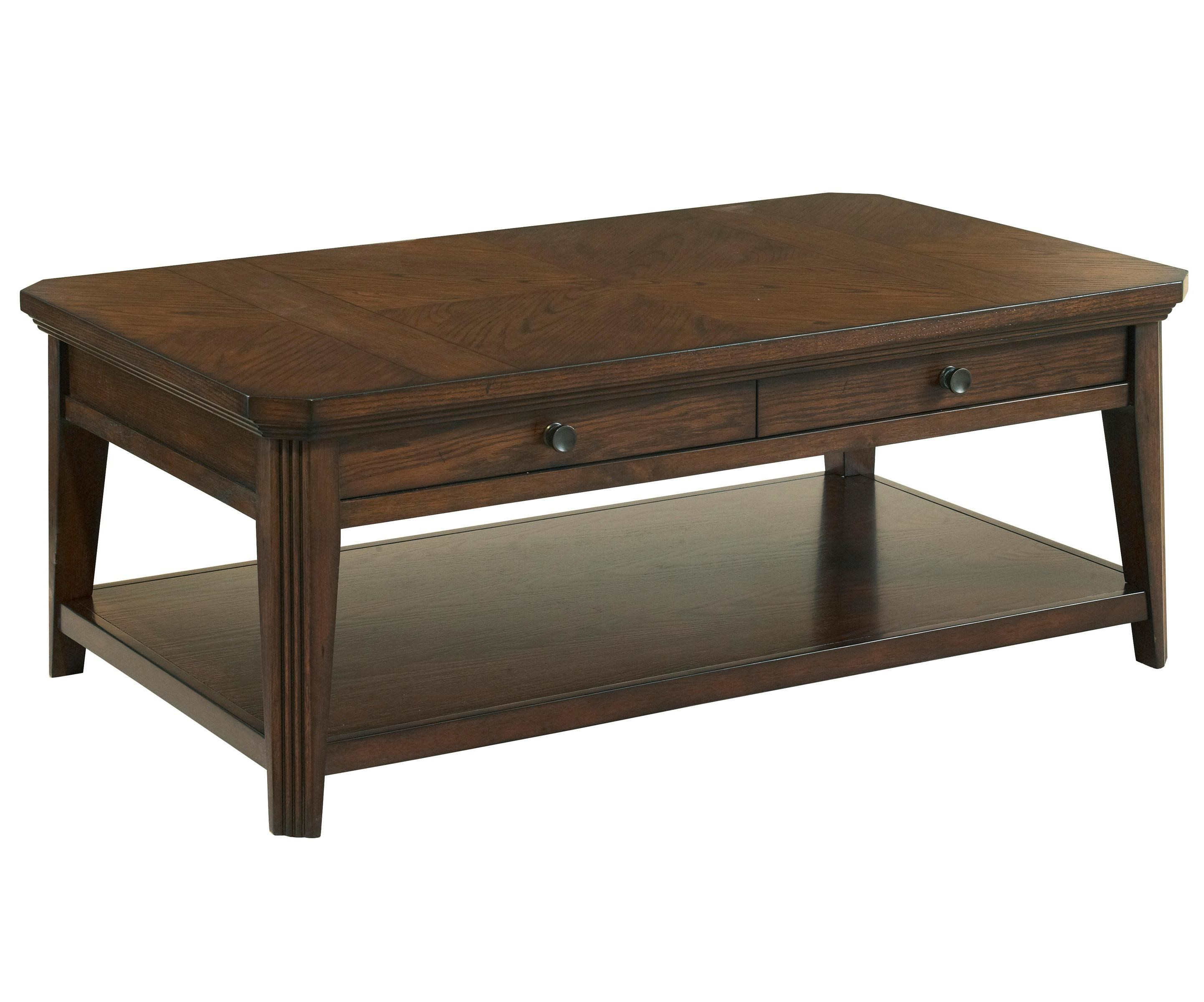 Broyhill Furniture Estes Park Storage Cocktail Table With 1 Shelf   Belfort  Furniture   Cocktail/Coffee Tables