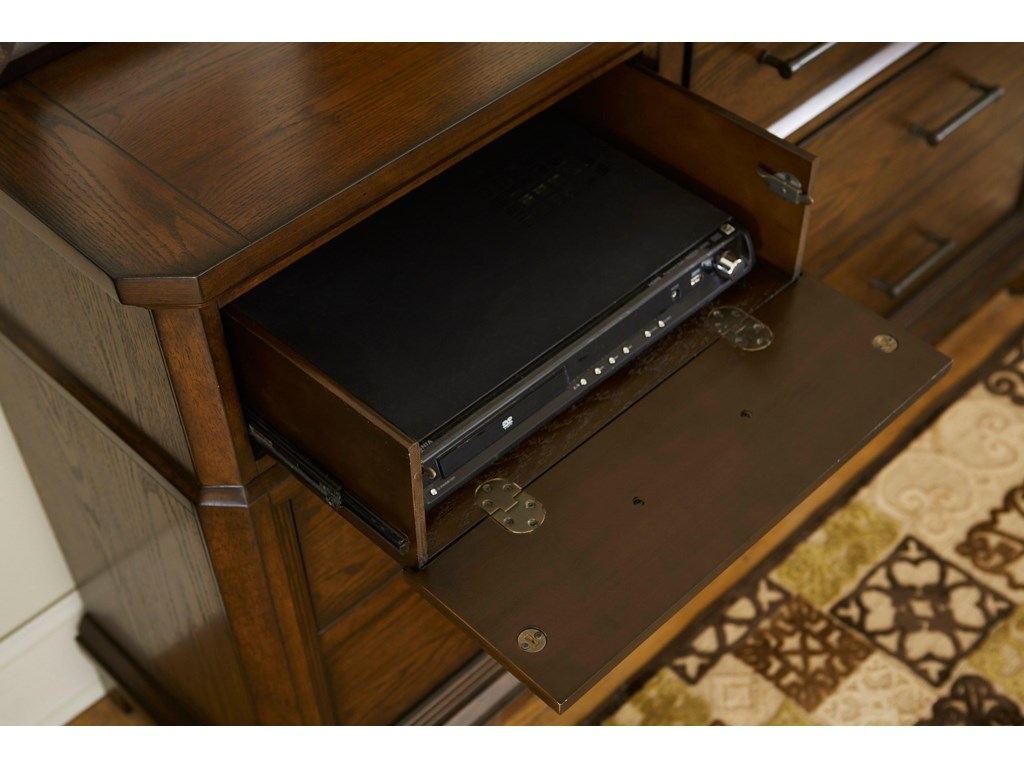 Drop Front Drawer for Media Devices