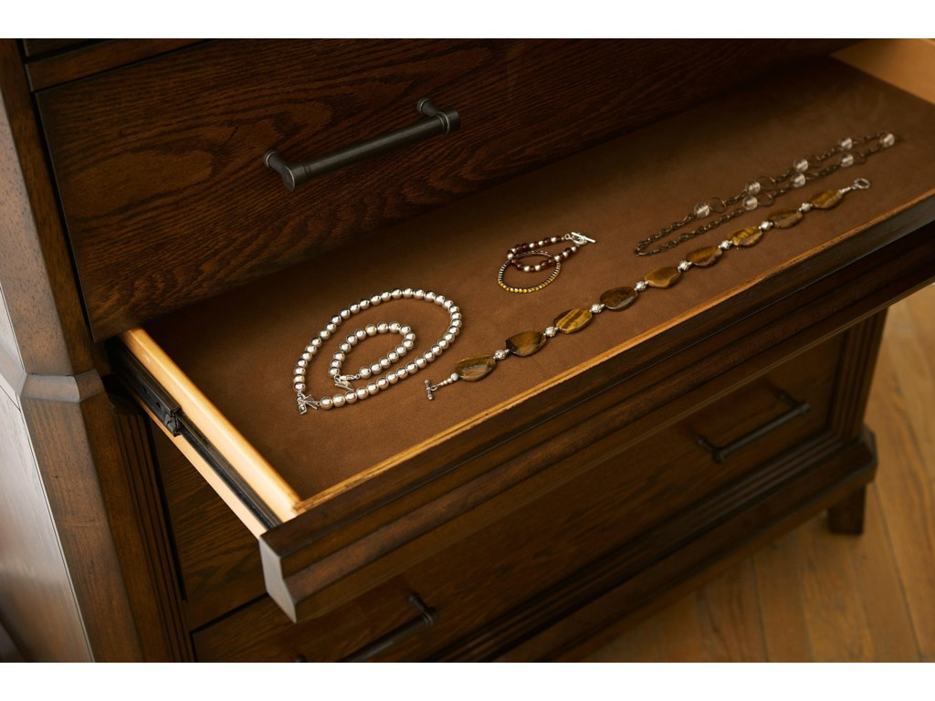 Chest Features a Hidden, Felt-Lined Jewelry Drawer