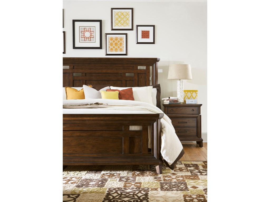Broyhill Furniture Estes ParkQueen Panel Bed