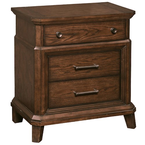 Broyhill Furniture Estes Park 3 Drawer Nightstand with Touch Power Strip