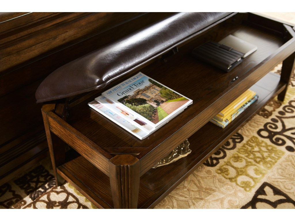 Bench Seat Lifts Up to Reveal Hidden Storage Space