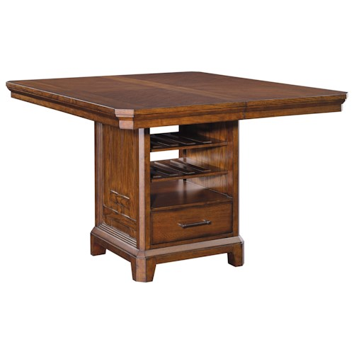 Broyhill Furniture Estes Park Counter Height Table with Built In Storage