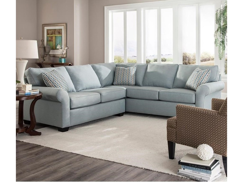Ethan Two Piece Sectional With Corner Sofa By Broyhill Furniture