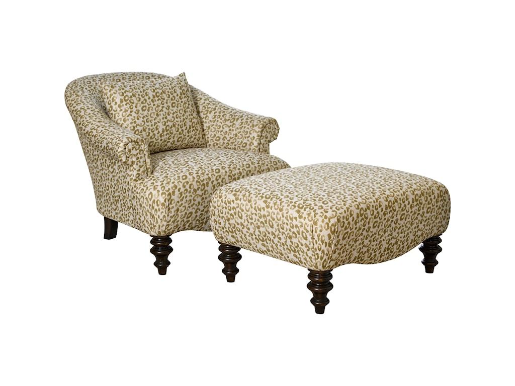 Broyhill Furniture EttaChair & 1/2 and Ottoman & 1/2
