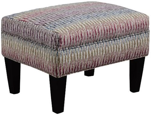 Broyhill Furniture Evie Transitional Rectangular Chair Ottoman with Tapered Wood Legs