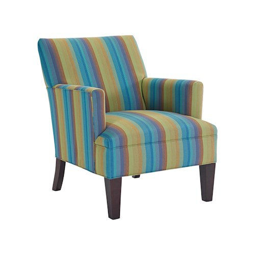 Broyhill Furniture S9047 Transitional Chair with Tapered Wood Legs