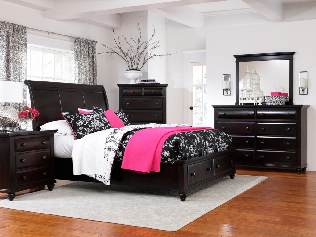 Shown with Nightstand, Sleigh Bed, and Drawer Chest
