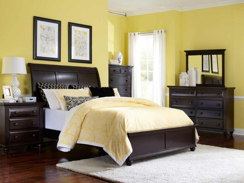 Shown with Nightstand, Drawer Chest, Drawer Dresser and Landscape Mirror